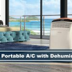portable air conditioner with floor to ceiling window beachside