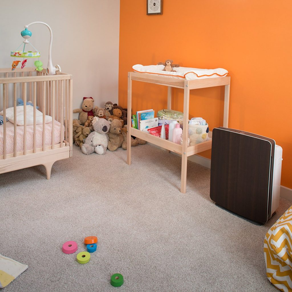 breathesmart air purifier in baby room