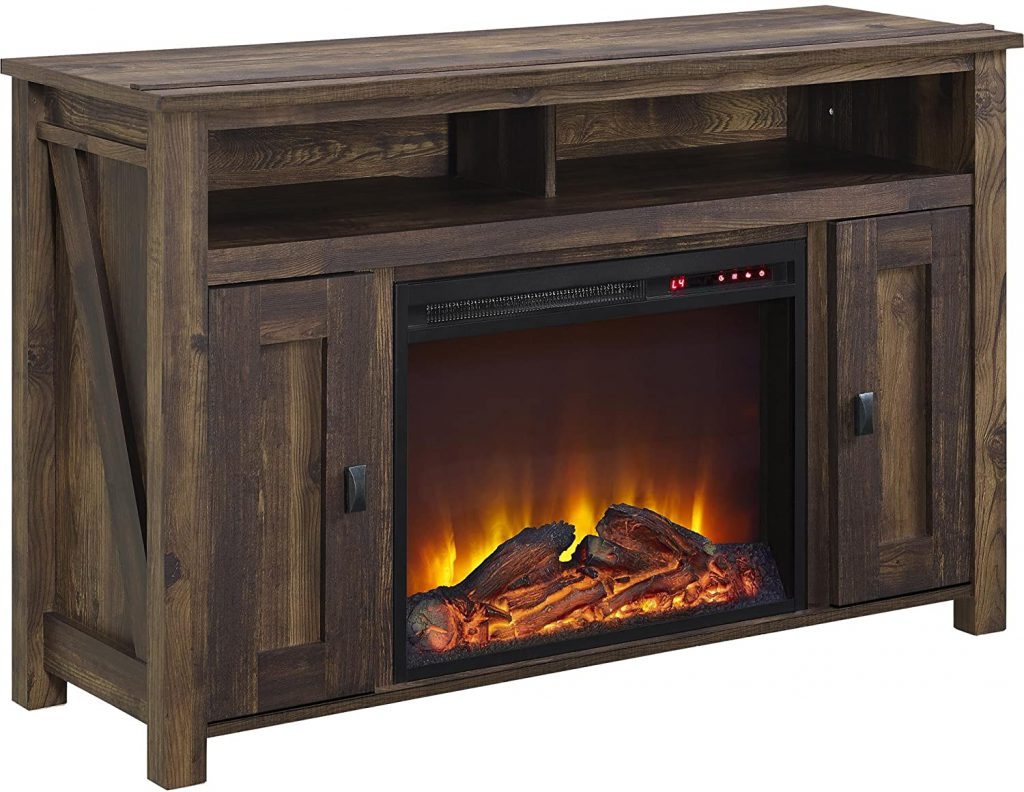 tv console best electric fireplace