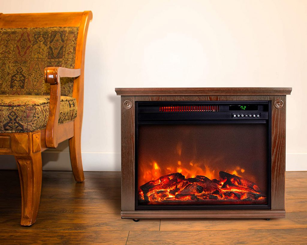 portable infrared electric fireplace